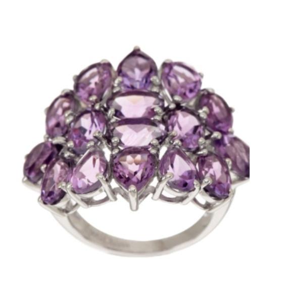 fe947802bf82d 10.00 Carat tw Brazilian Amethyst Sterling Ring NWT